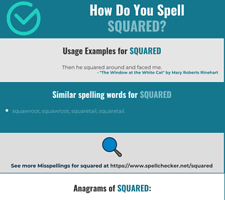 Correct spelling for squared
