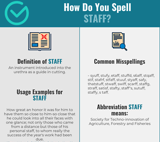 Correct spelling for staff