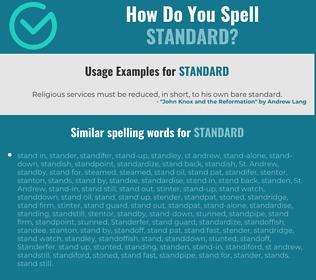 Correct spelling for standard