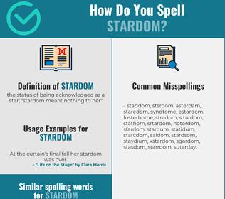 Correct spelling for stardom
