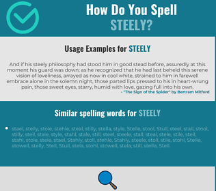 Correct spelling for steely