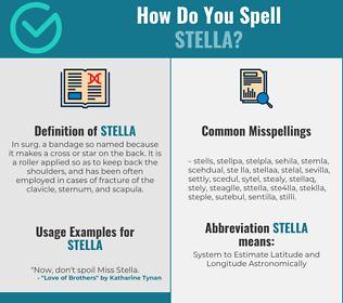 Correct spelling for stella