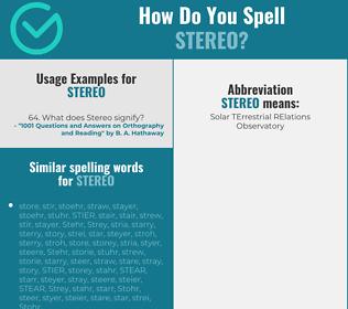 Correct spelling for stereo