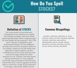 Correct spelling for stocks