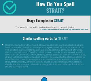 Correct spelling for strait