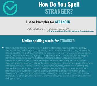 Correct spelling for stranger