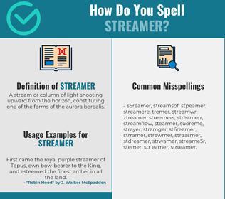 Correct spelling for streamer