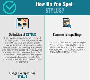 Correct spelling for stylus