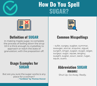 Correct spelling for sugar