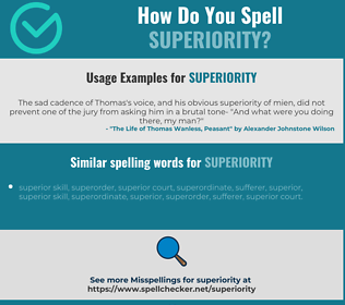 Correct spelling for superiority