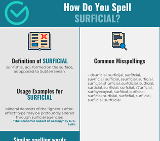 Correct spelling for surficial