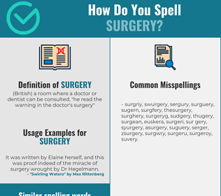 Correct spelling for surgery