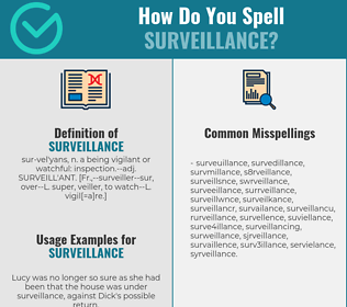 Correct spelling for surveillance