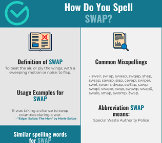 Correct spelling for swap