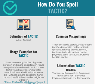 Correct spelling for tactic