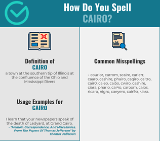 Correct spelling for cairo