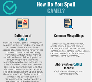 Correct spelling for camel