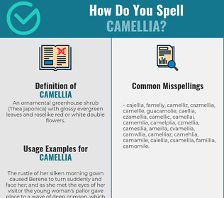 Correct spelling for camellia