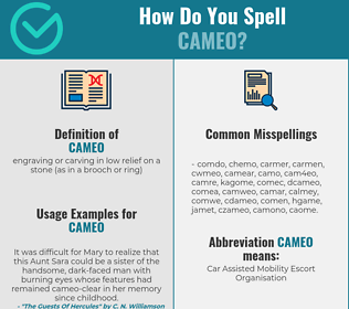 Correct spelling for cameo