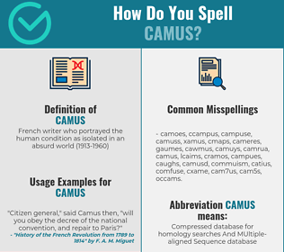 Correct spelling for camus