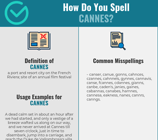 Correct spelling for cannes
