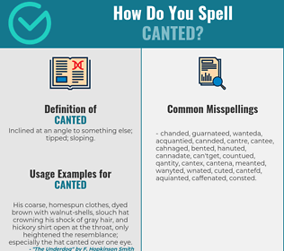Correct spelling for canted