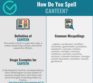 Correct spelling for canteen
