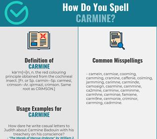 Correct spelling for carmine