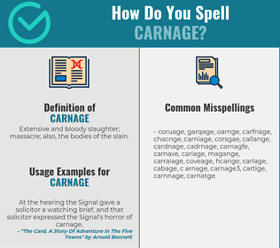 Correct spelling for carnage