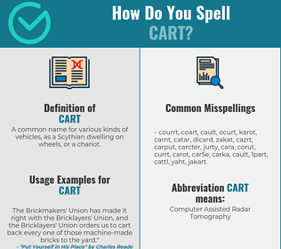 Correct spelling for cart