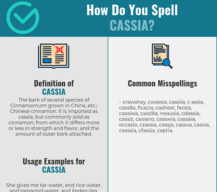 Correct spelling for cassia