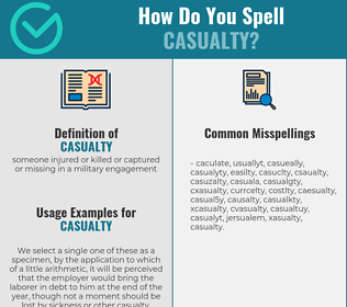 Correct spelling for casualty