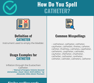 Correct spelling for catheter