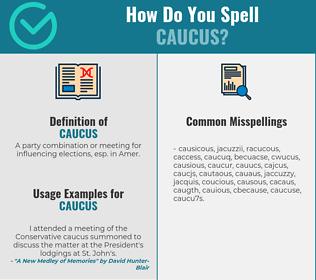 Correct spelling for caucus