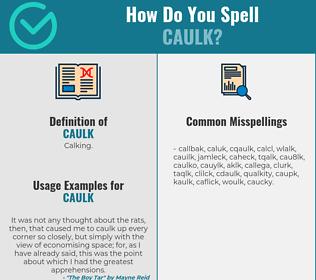 Correct spelling for caulk