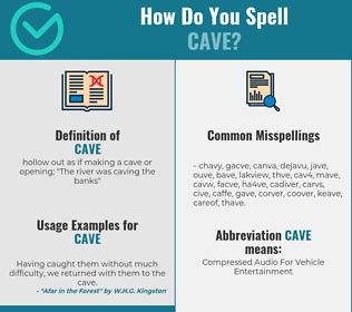 Correct spelling for cave