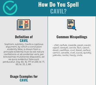 Correct spelling for cavil