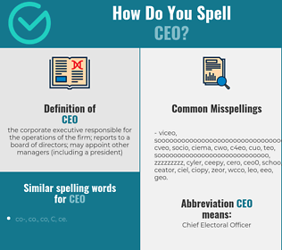 Correct spelling for ceo