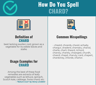 Correct spelling for chard