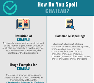 Correct spelling for chateau