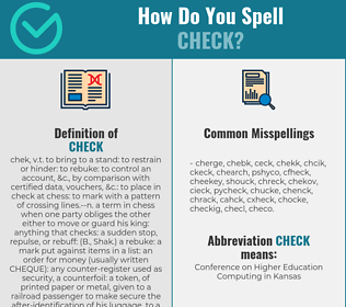Correct spelling for check