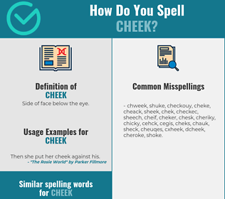 Correct spelling for cheek