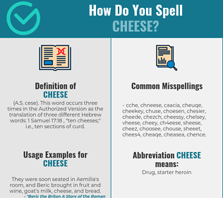 Correct spelling for cheese