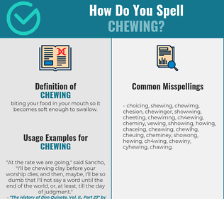 Correct spelling for chewing