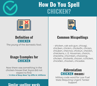Correct spelling for chicken