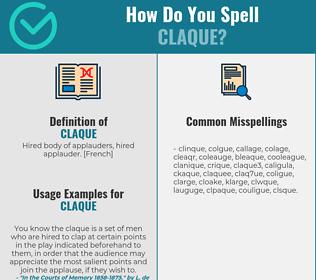 Correct spelling for claque