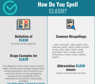 Correct spelling for clash