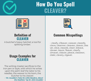 Correct spelling for cleaver