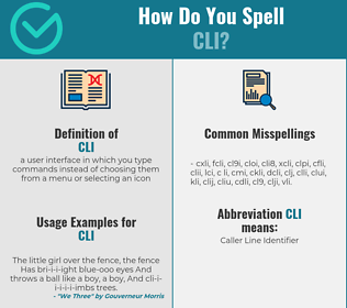 Correct spelling for cli