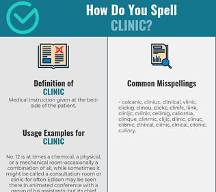 Correct spelling for clinic
